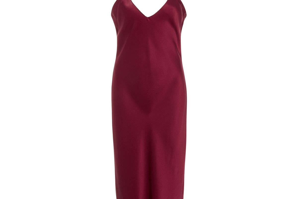 nili lotan silk-satin slip dress