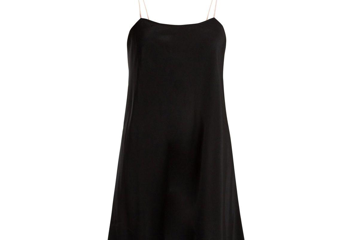 loup charmant silk slip dress