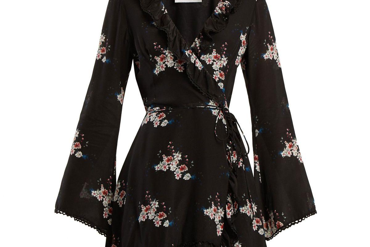 athena procopiou floral print silk dress