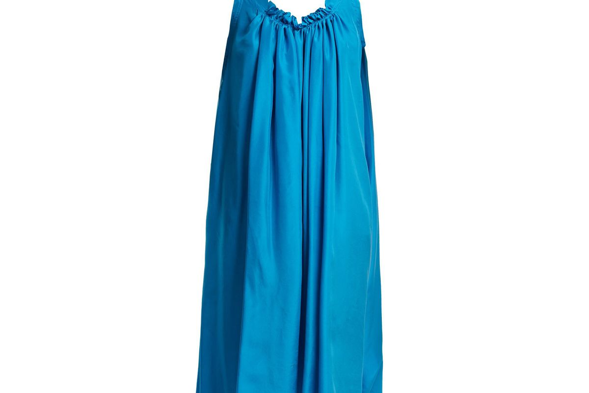 loup charmant gather shortie silk dress