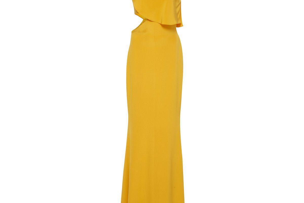cushnie et ochs bea ruffled one shoulder gown