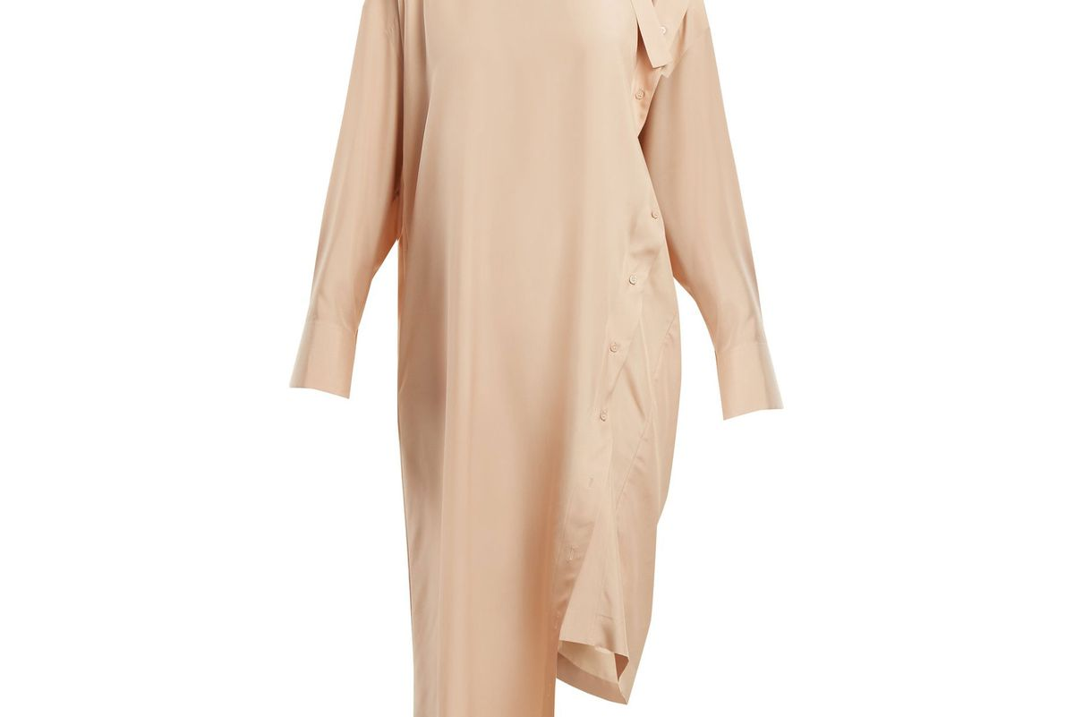valentino tie-neck silk dress