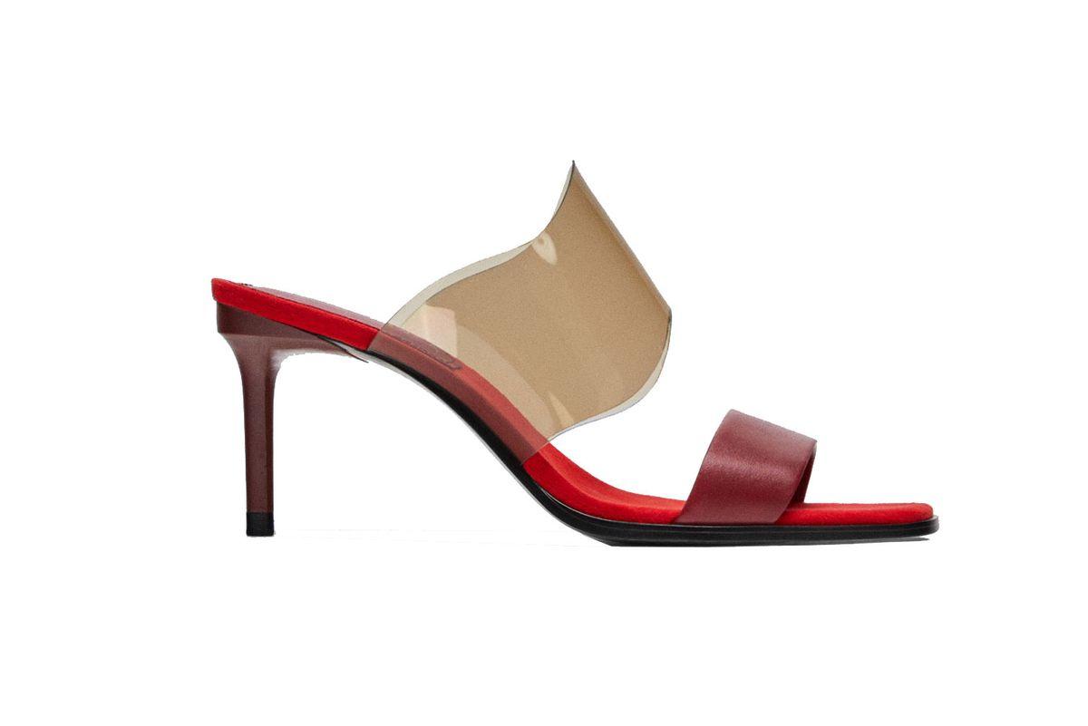 Zara Vinyl Mules With Methacrylate Heels, $60