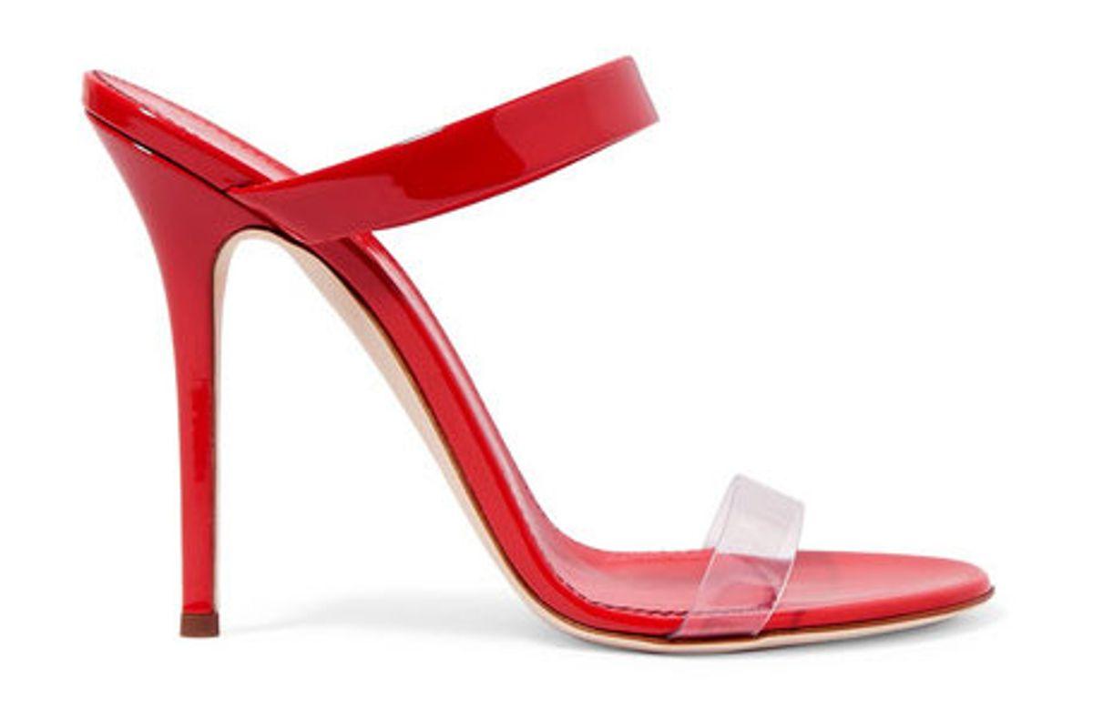 giuseppe zanotti ali patent and perspex sandals