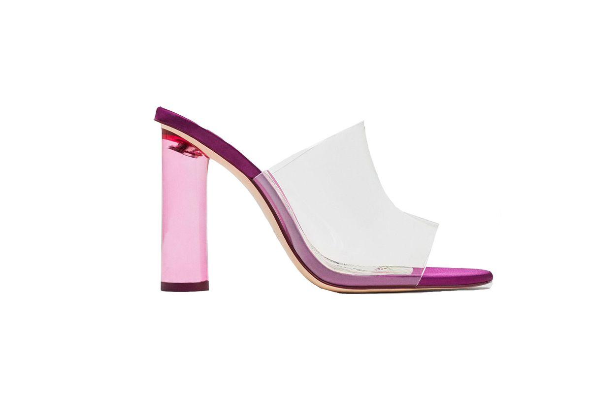 Zara Vinyl High Heel Sandal