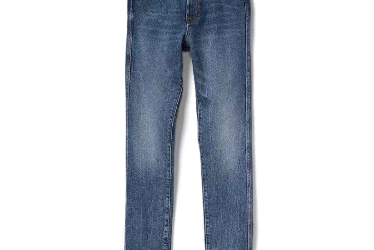 High Rise Slim Straight Fit Jeans