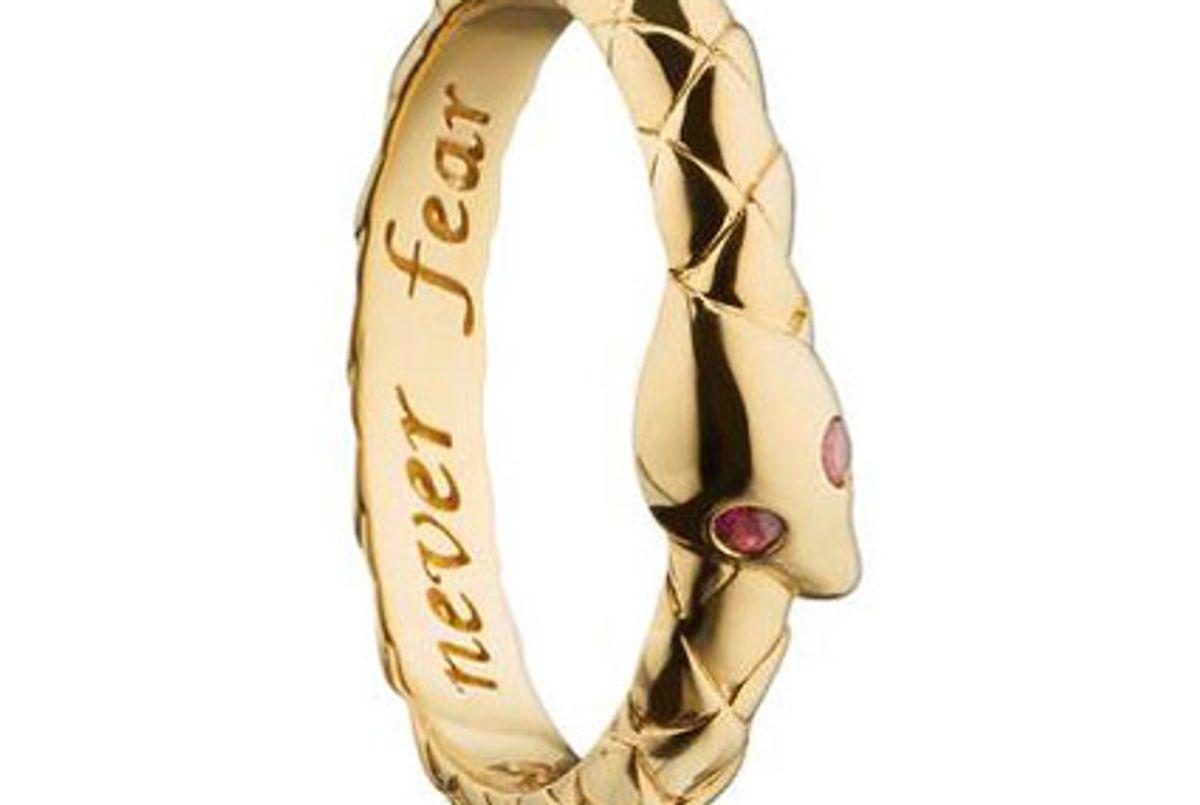 monica rich kosann never fear snake poesy stackable ring