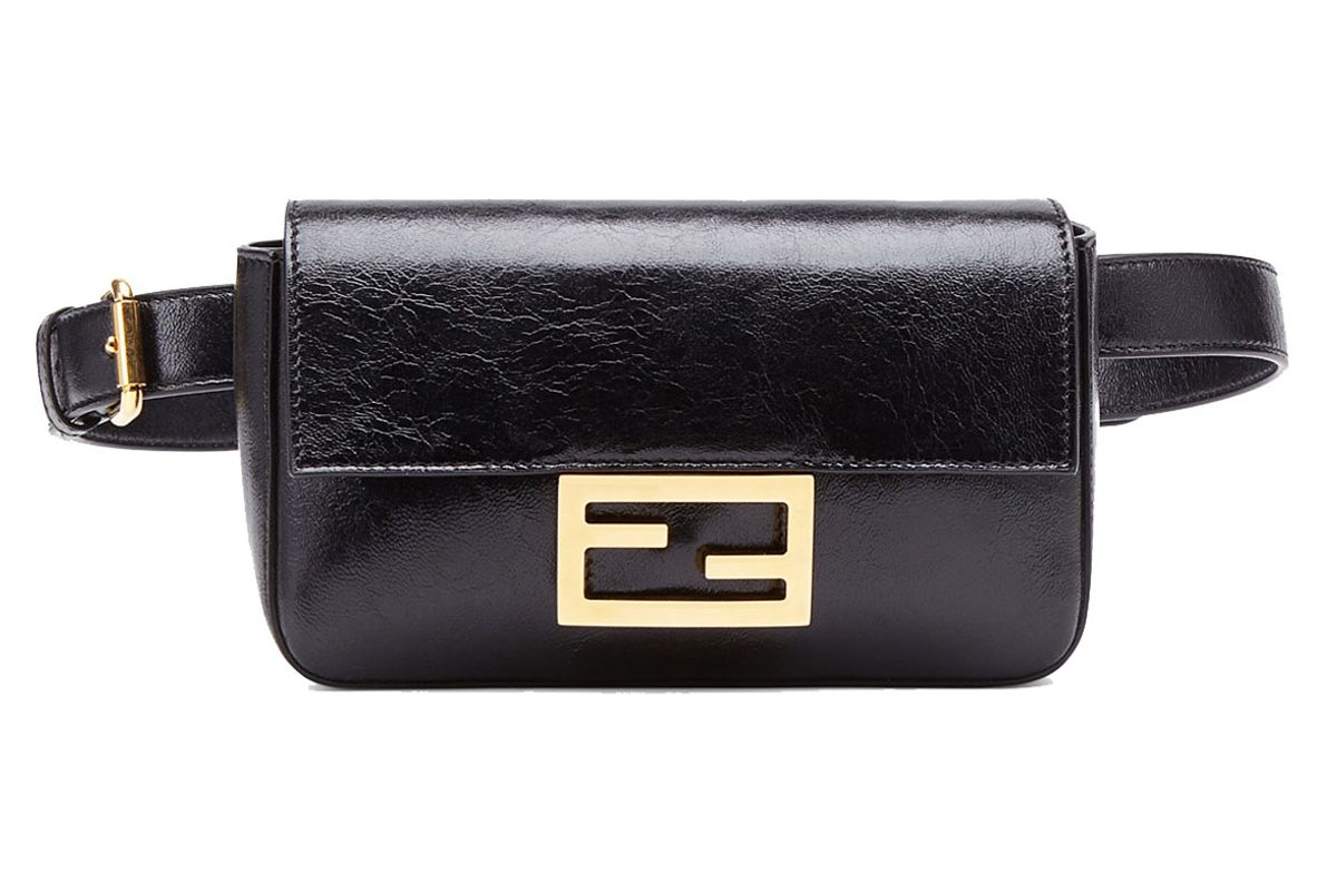 fendi belt bag black leather mini bag