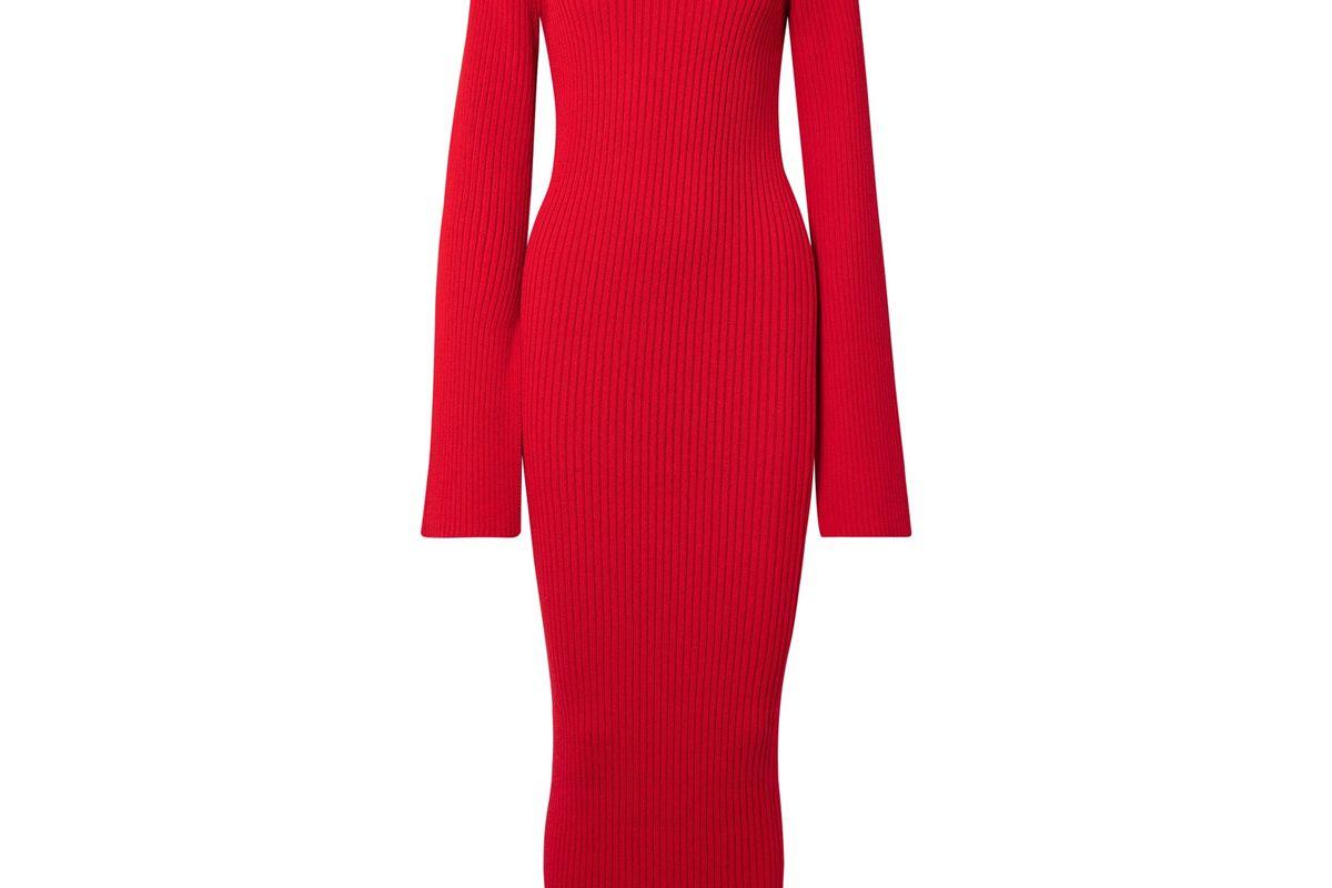 Celina Ribbed Cotton-Blend Maxi Dress