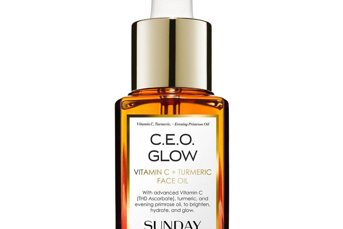 sunday riley ceo glow vitamin c and turmeric face oil