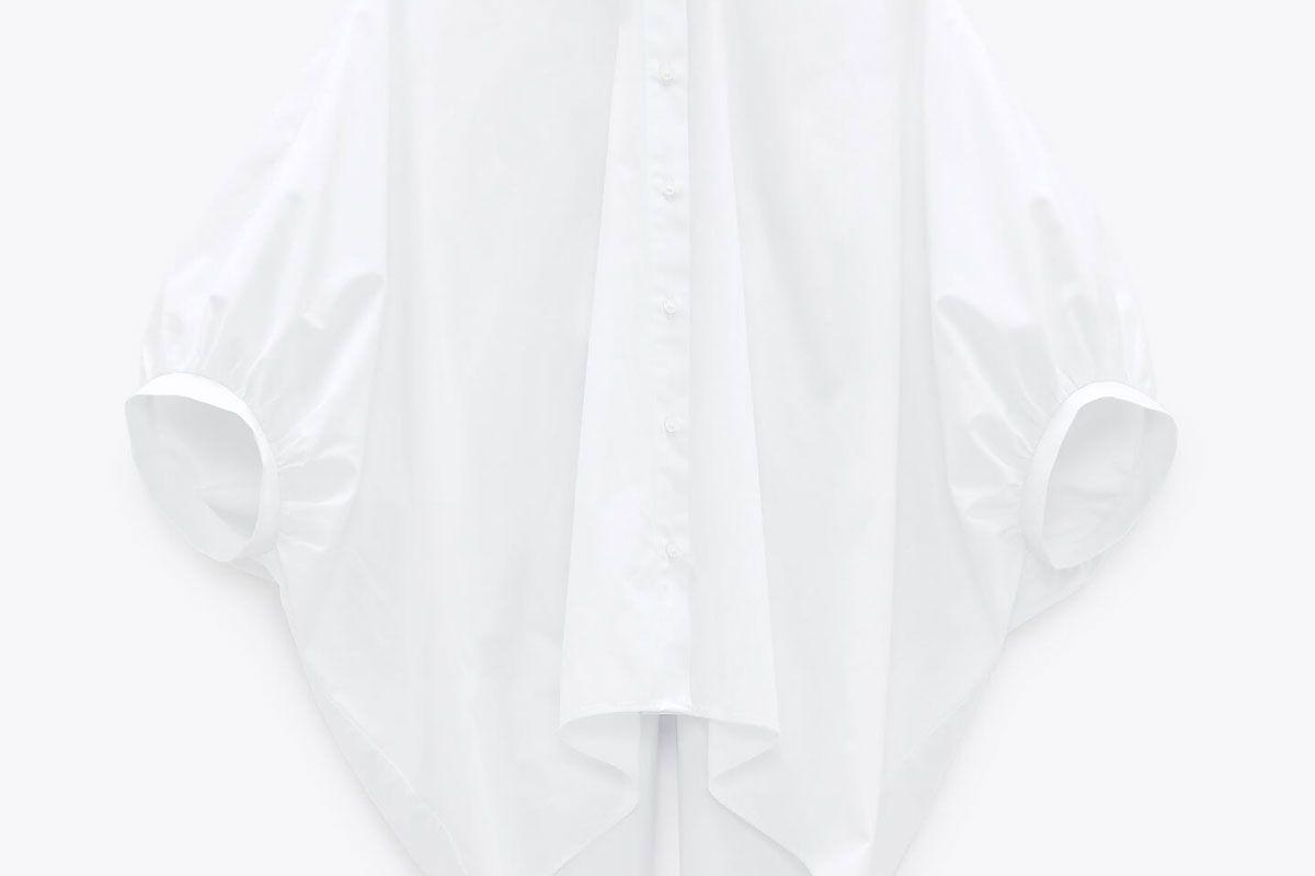 zara back opening shirt
