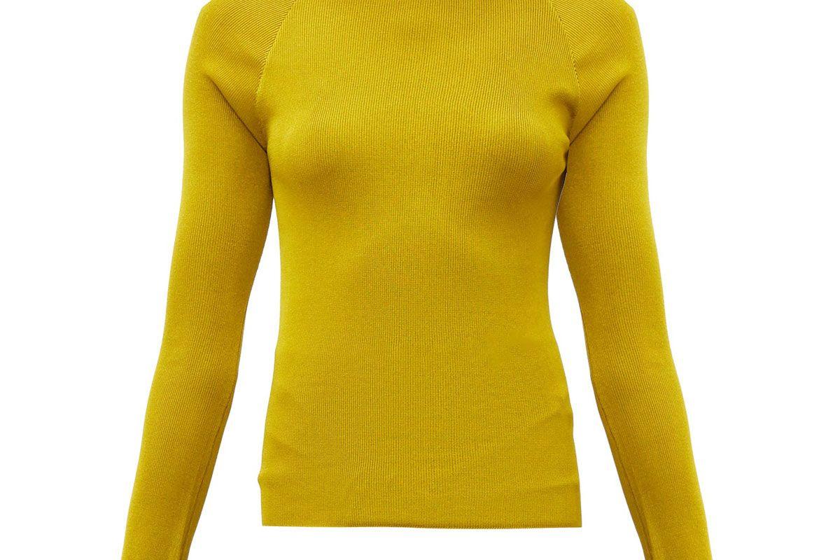 peter petrov kienna open back sweater
