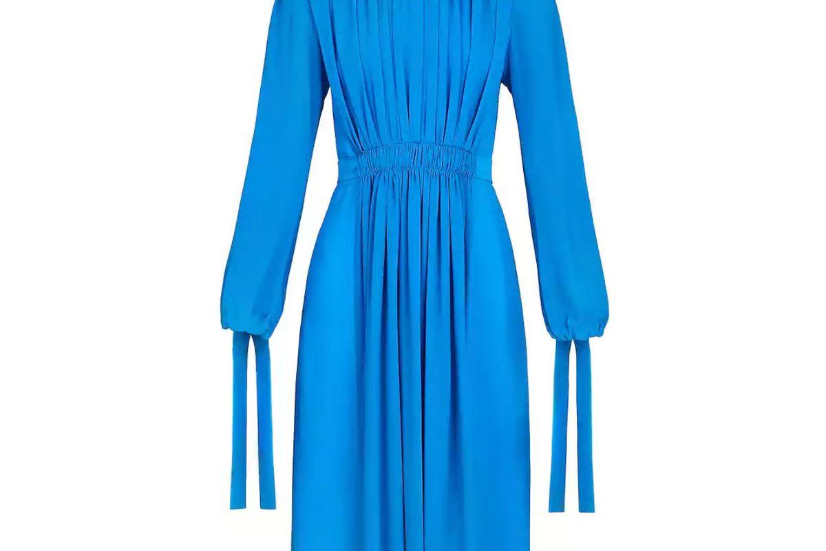 louis vuitton pleated silk dress