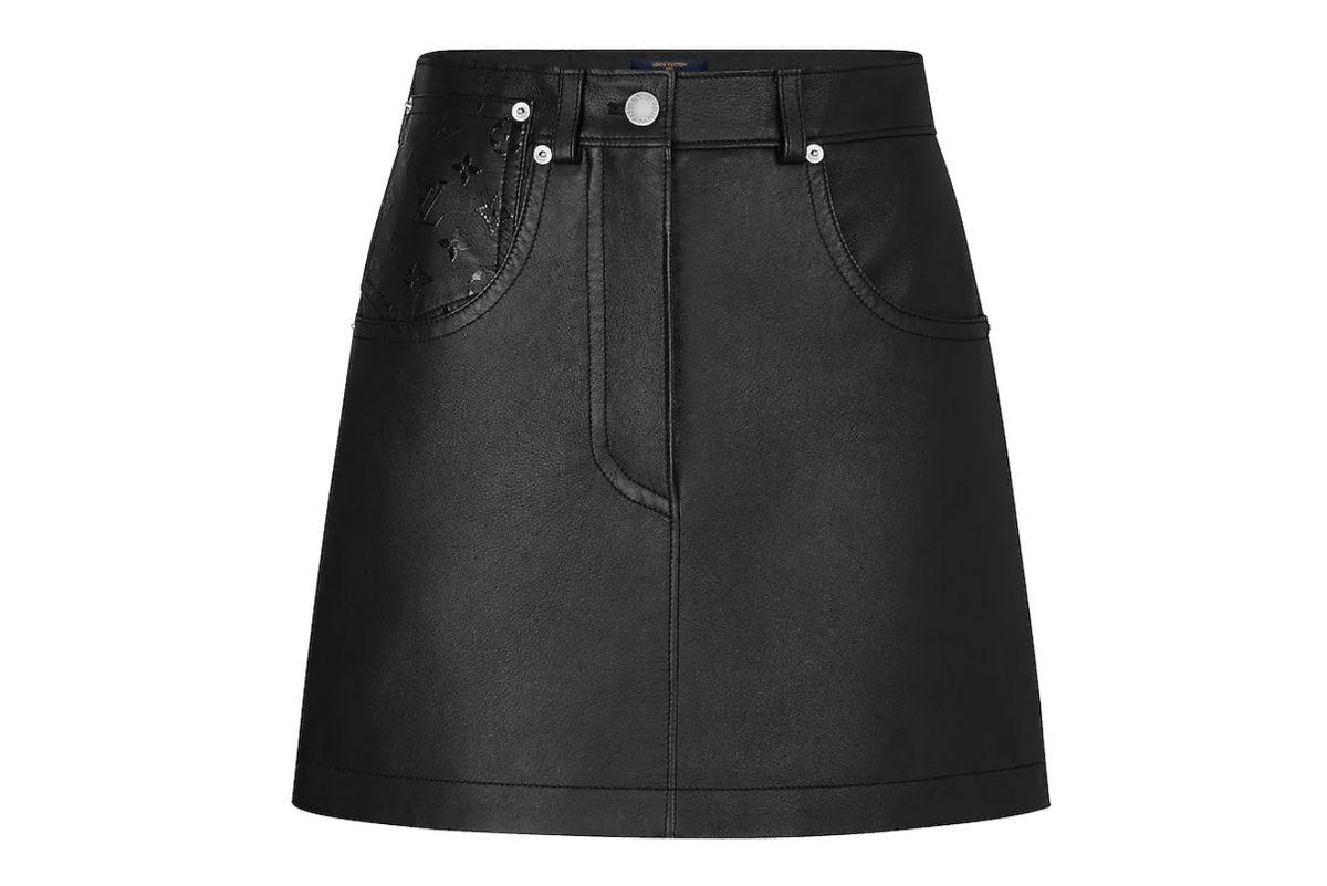 louis vuitton soft lambskin mini skirt
