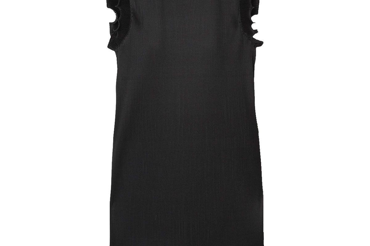 the marc jacobs ruffled plisse stretch satin mini dress