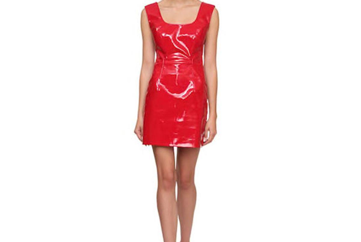 rowen rose vinyl mini dress