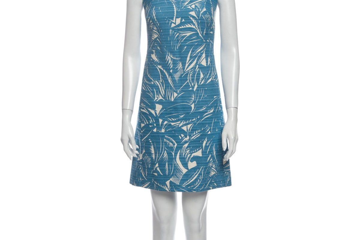 tory burch printed mini dress