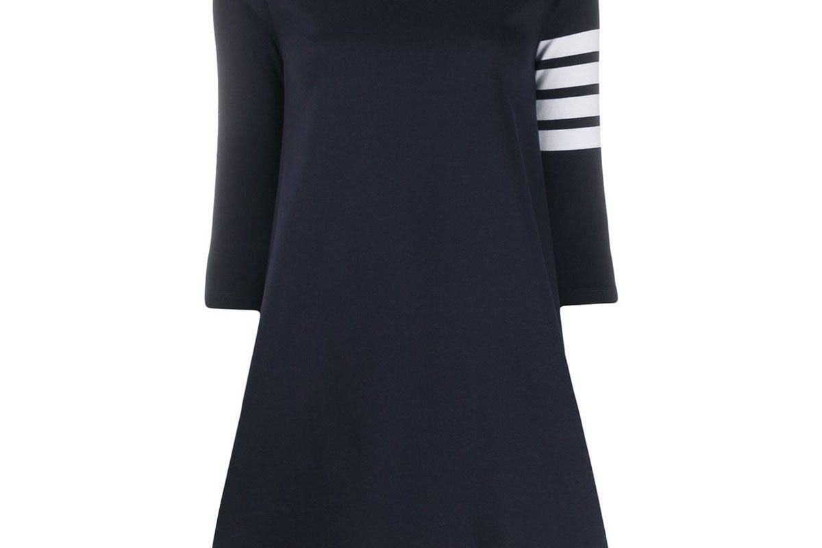 thom browne 4 bar striped dress