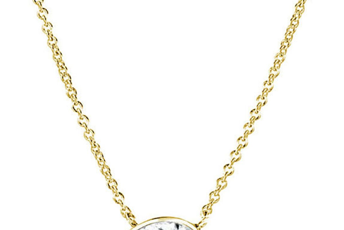 the forevermark tribute collection pear diamond necklace