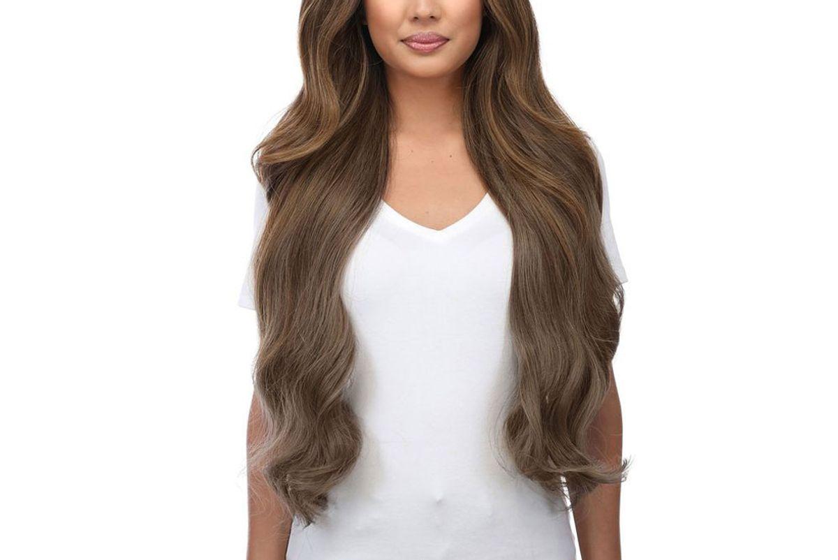 bellami silk seam walnut brown hair extensions
