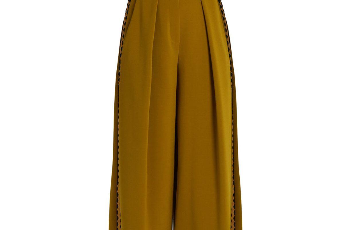 Devin Ric-Rac Trimmed Crepe Culottes