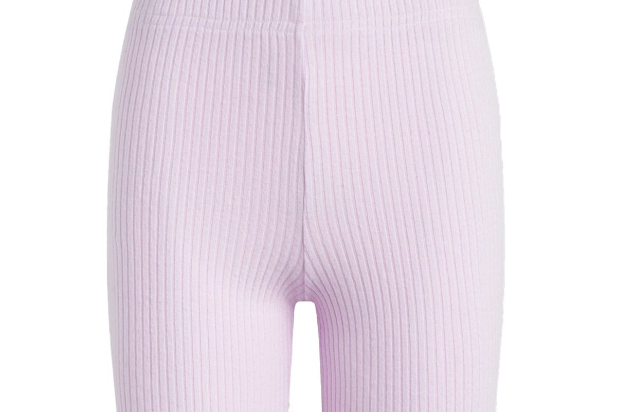 leset alison ribbed stretch knit shorts