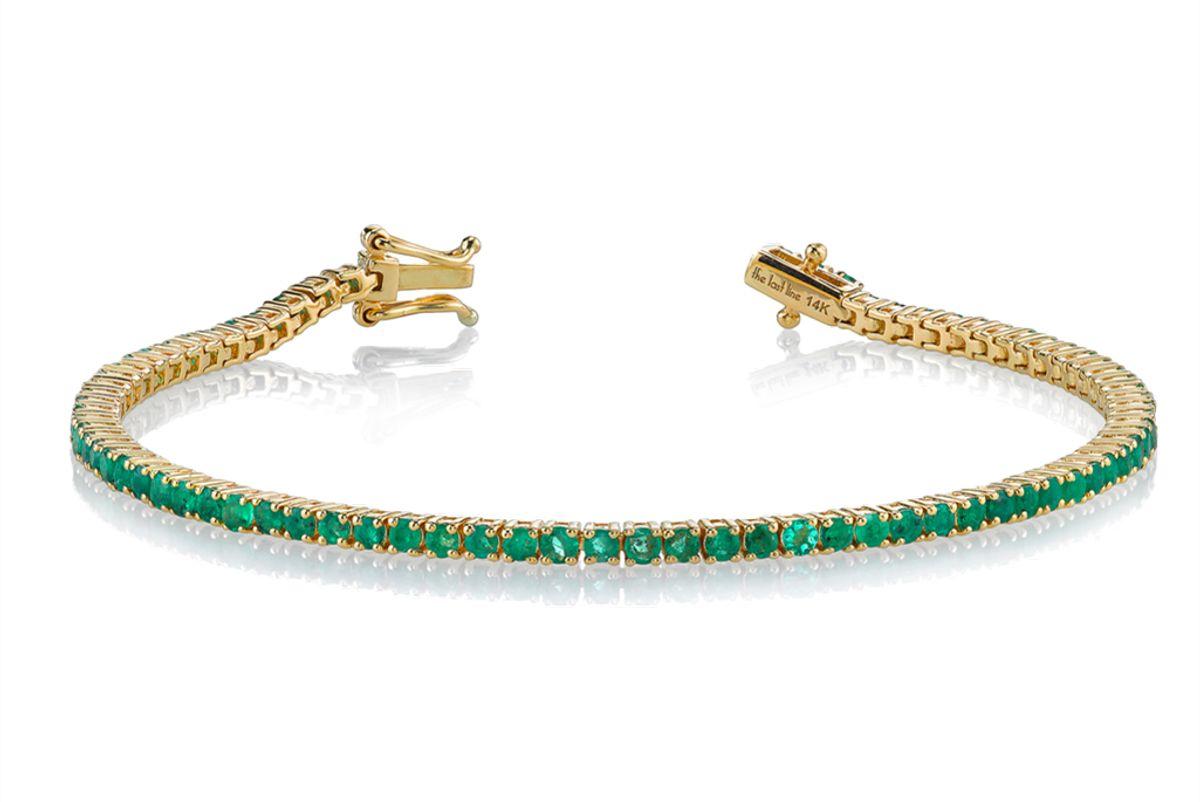 the last line emerald perfect tennis bracelet