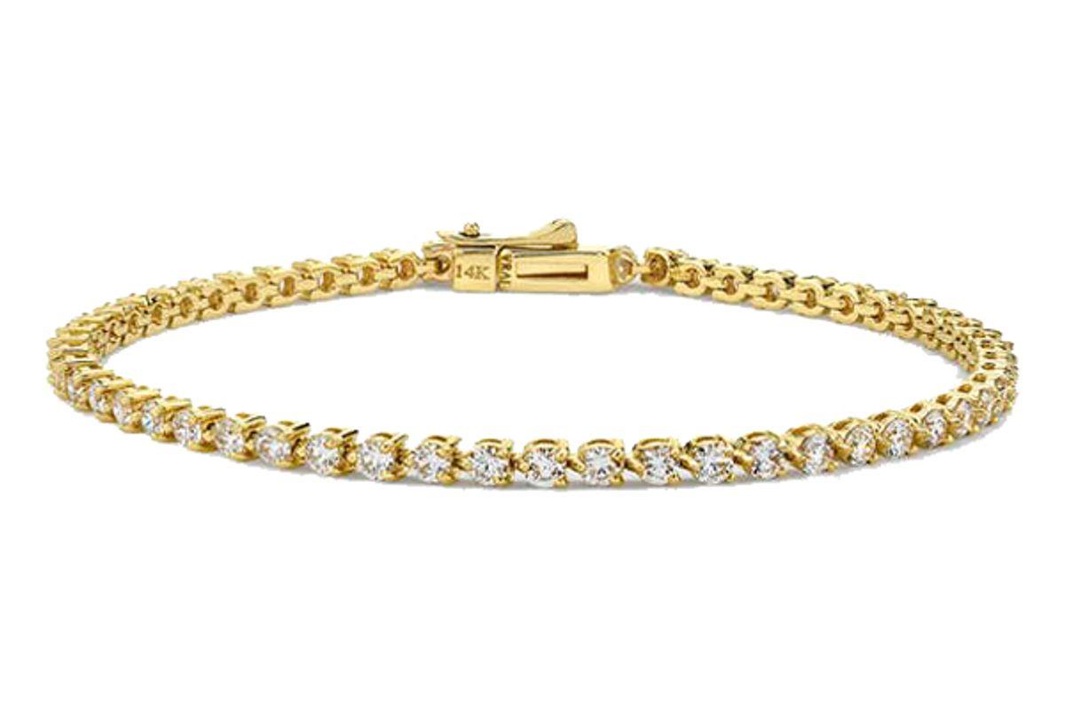 vrai round diamond tennis bracelet petite