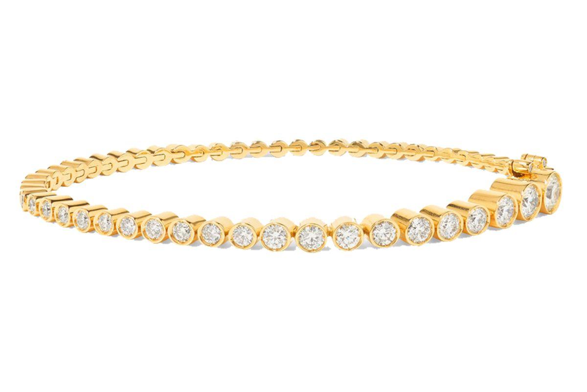 sophie bille braha tennis 18 karat gold diamond bracelet