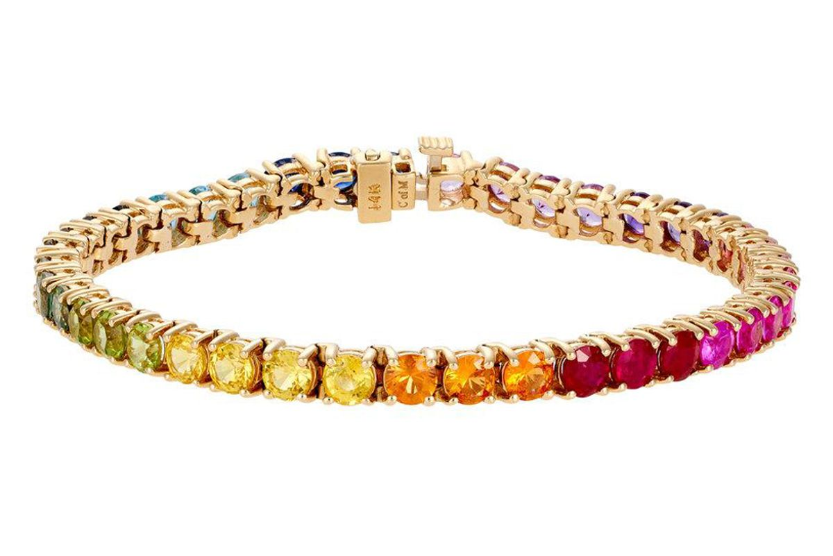 luisa alexander rainbow tennis bracelet