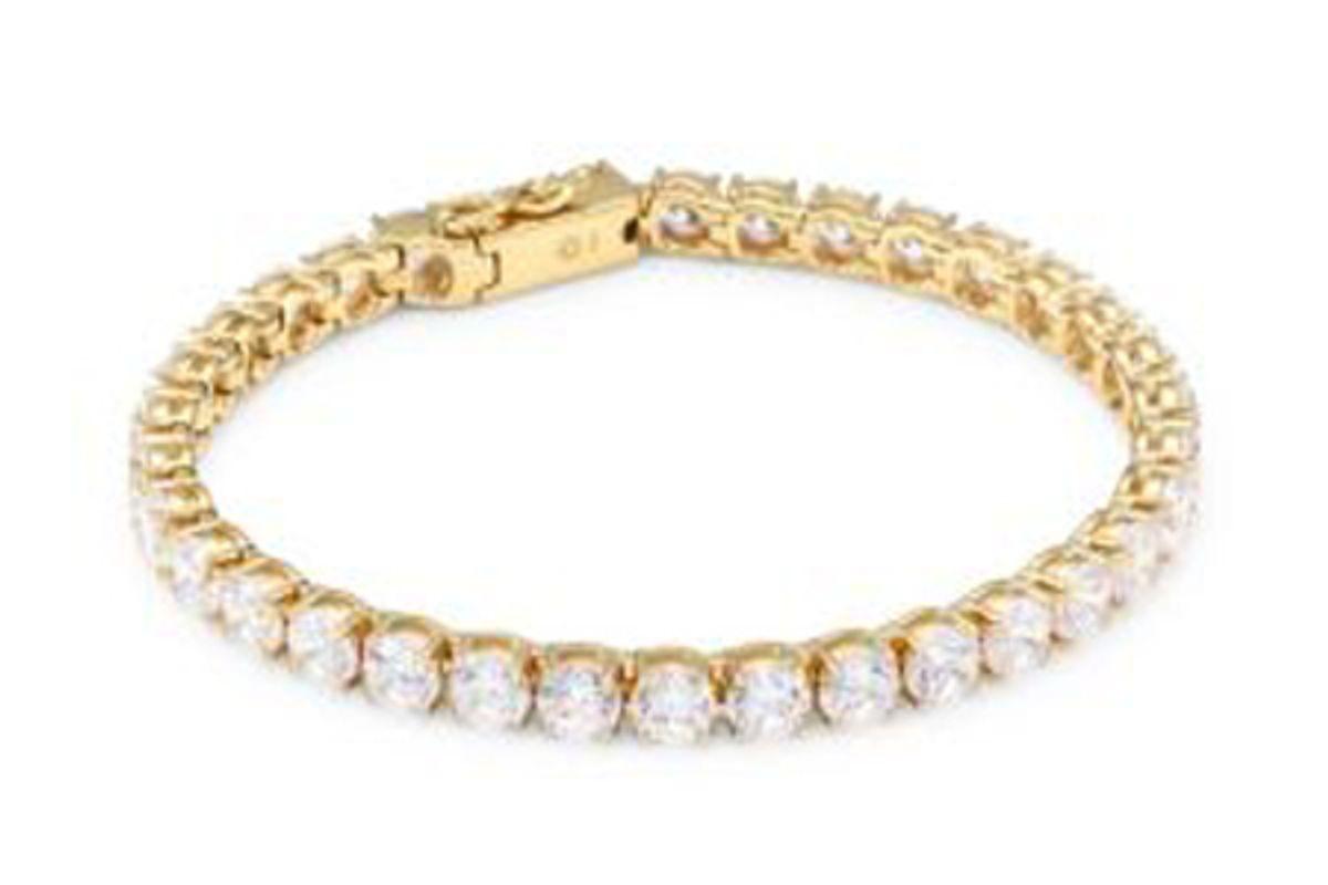 adriana orsini 18k goldplated sterling silver tennis bracelet