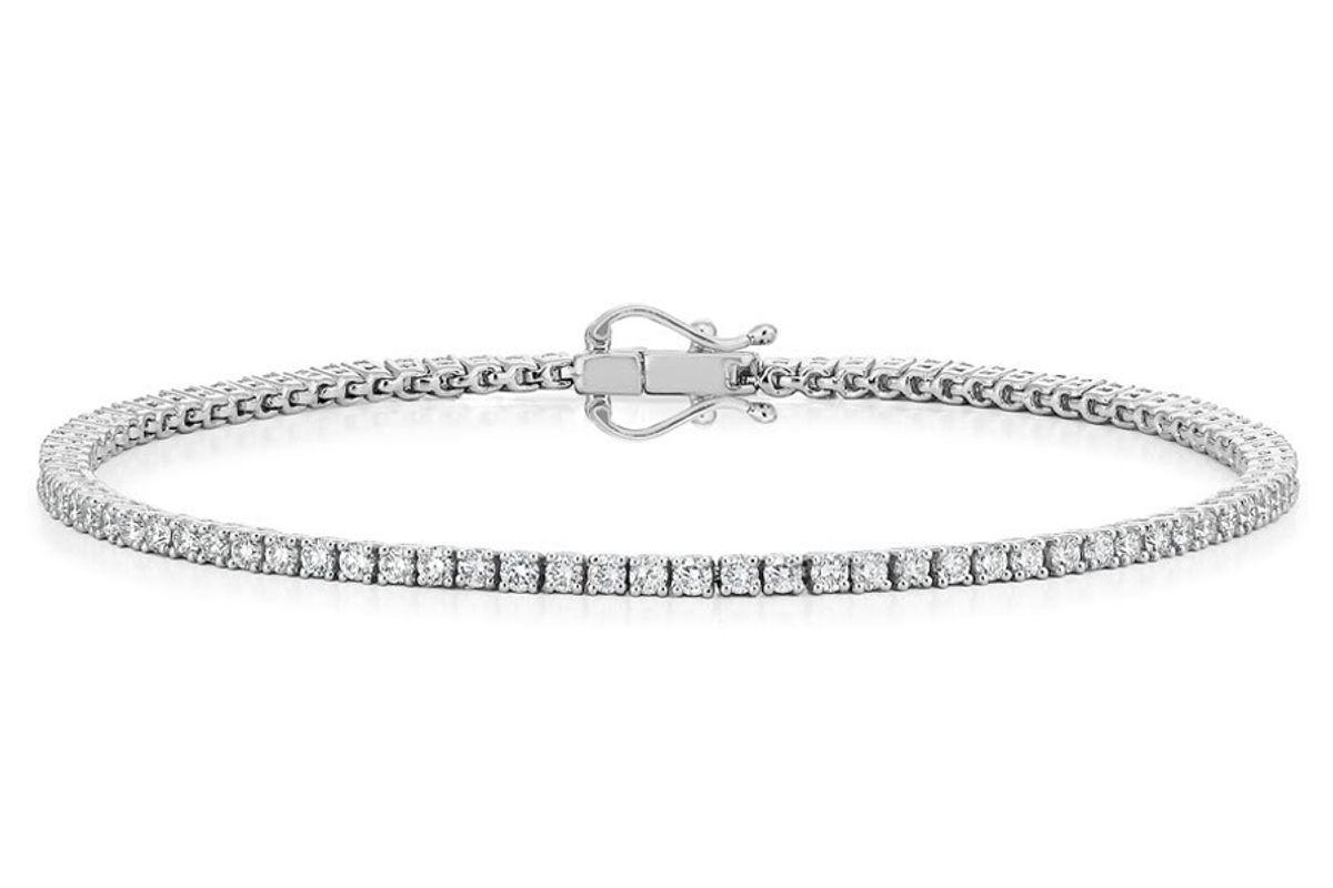 brilliant earth 18 k white gold certified diamond tennis bracelet