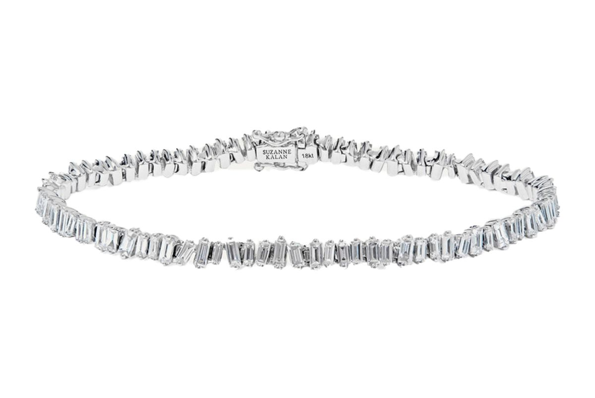 suzanne kalan 18 karat white gold diamond bracelet