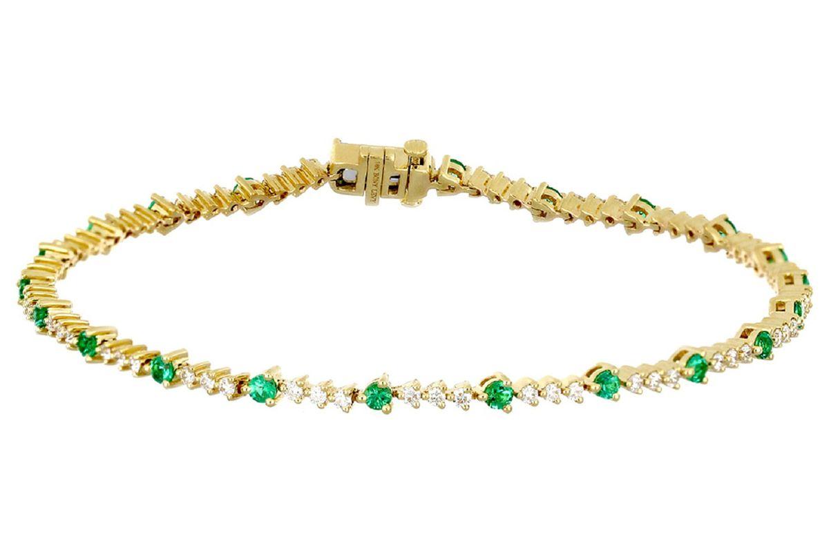 bony levy el mar emerland and diamond tennis bracelet