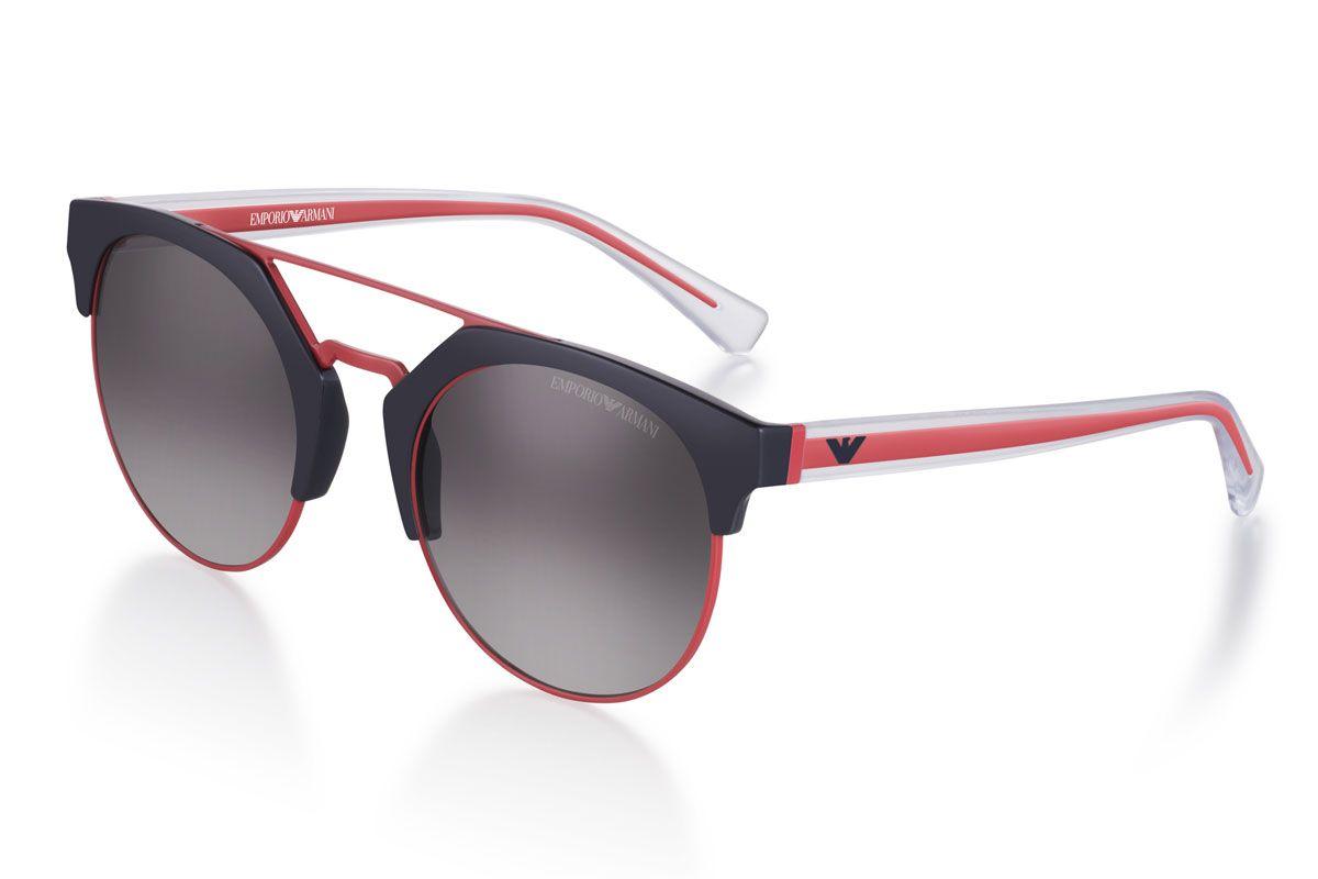 Bicolor Round Sunglasses
