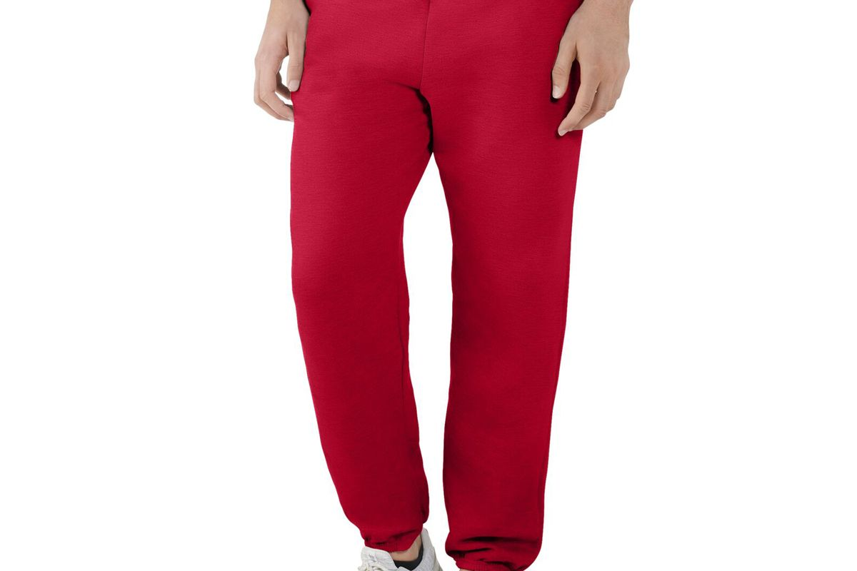 fruit of the loom eversoft mens fleece elastic bottom sweatpants