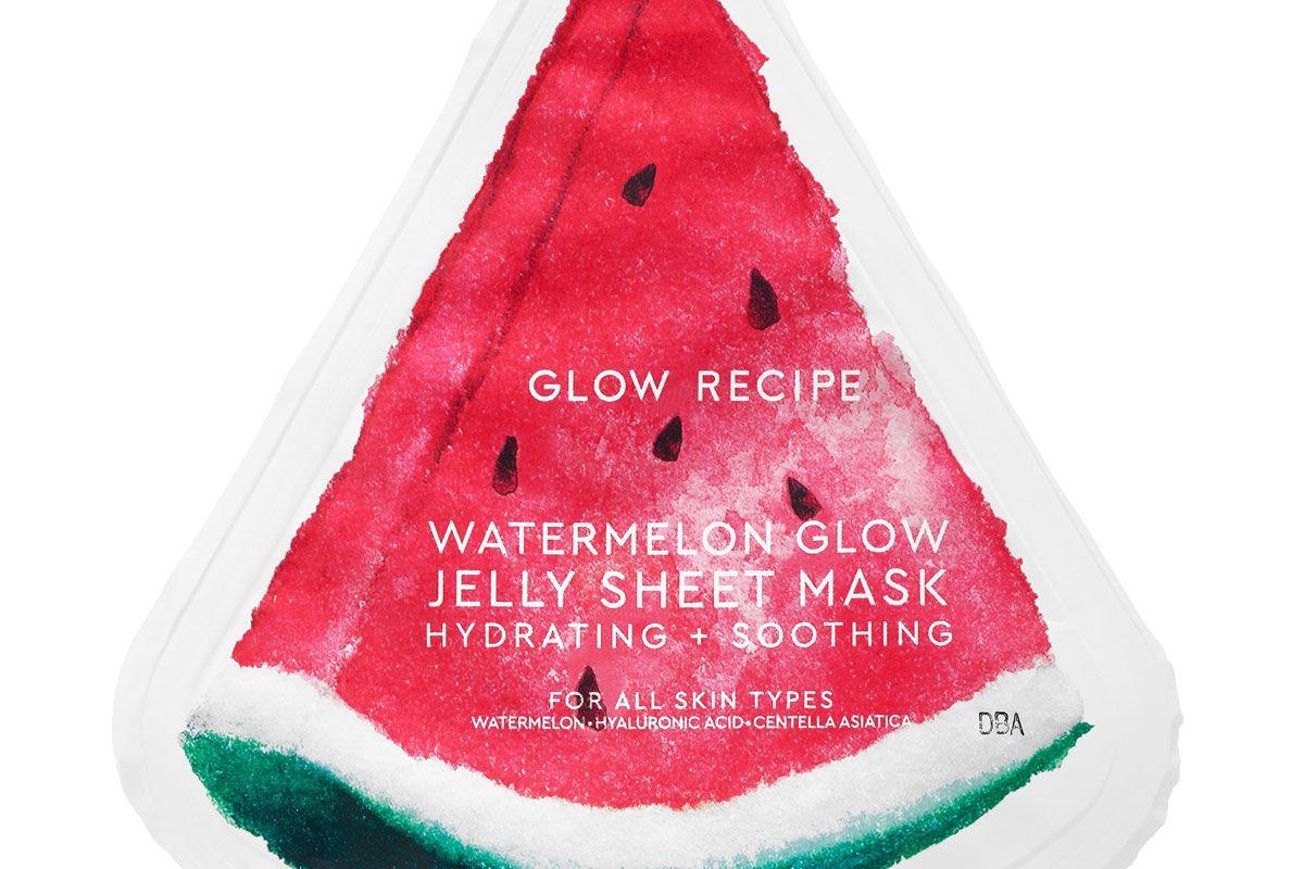 glow recipe watermelon glow jelly sheet mask
