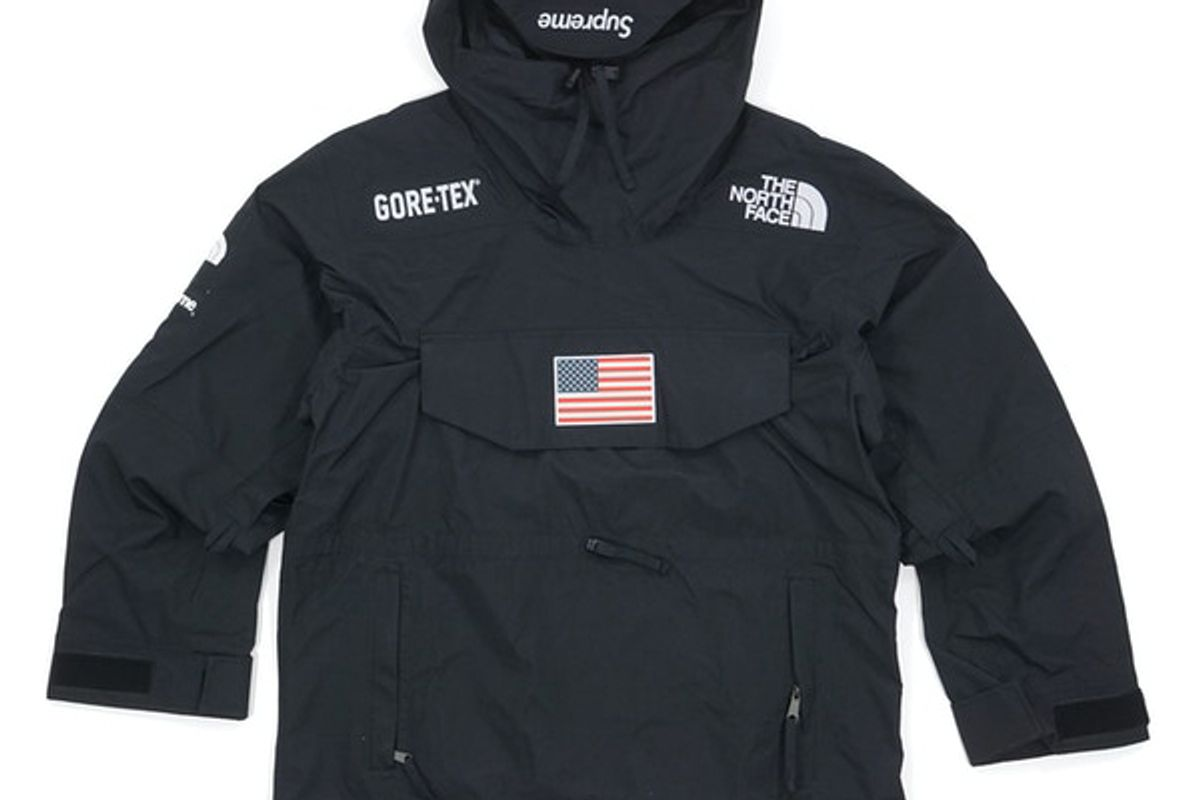 supreme x the north face trans antarctica expedition pullover jacket