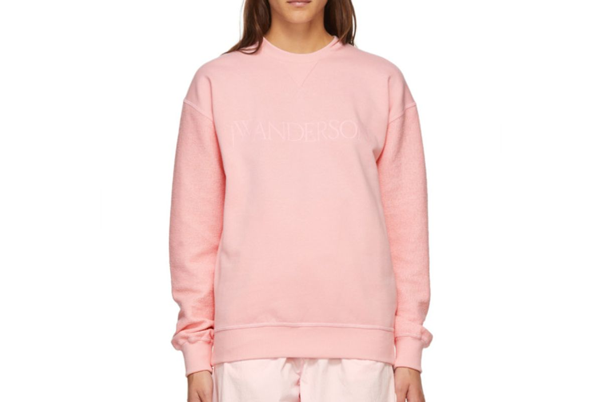 jw anderson pink logo sweatshirt