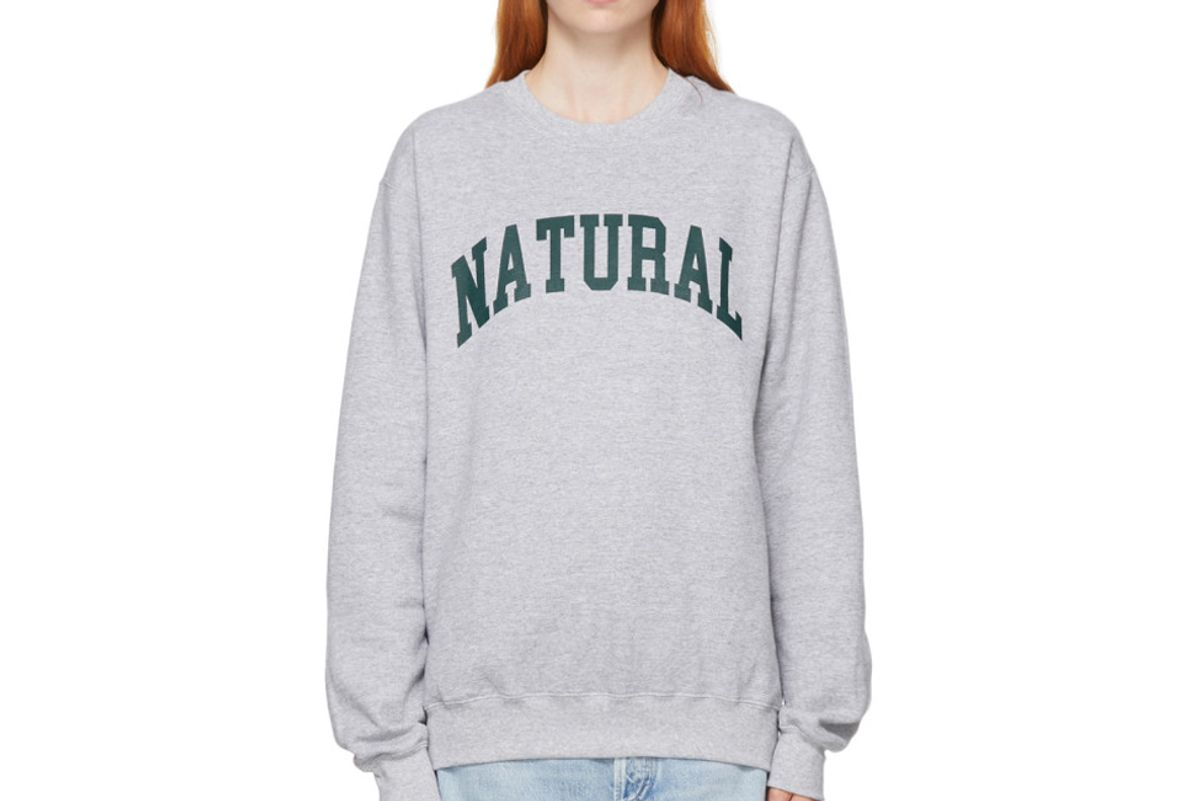 museum of peace and quiet grey natural sweatshirt