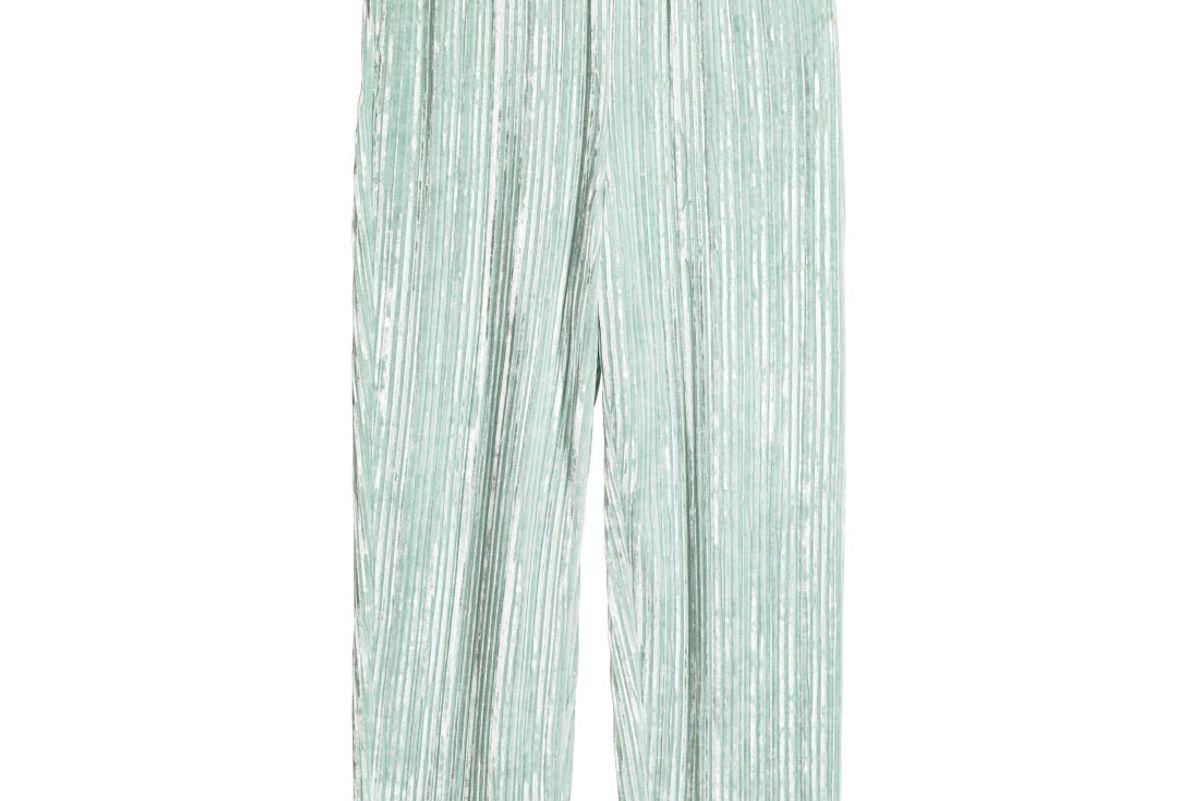 Crushed-Velvet Pants