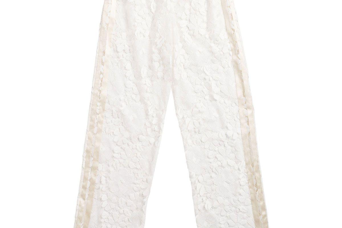 Yana Pant in Chalk Lace