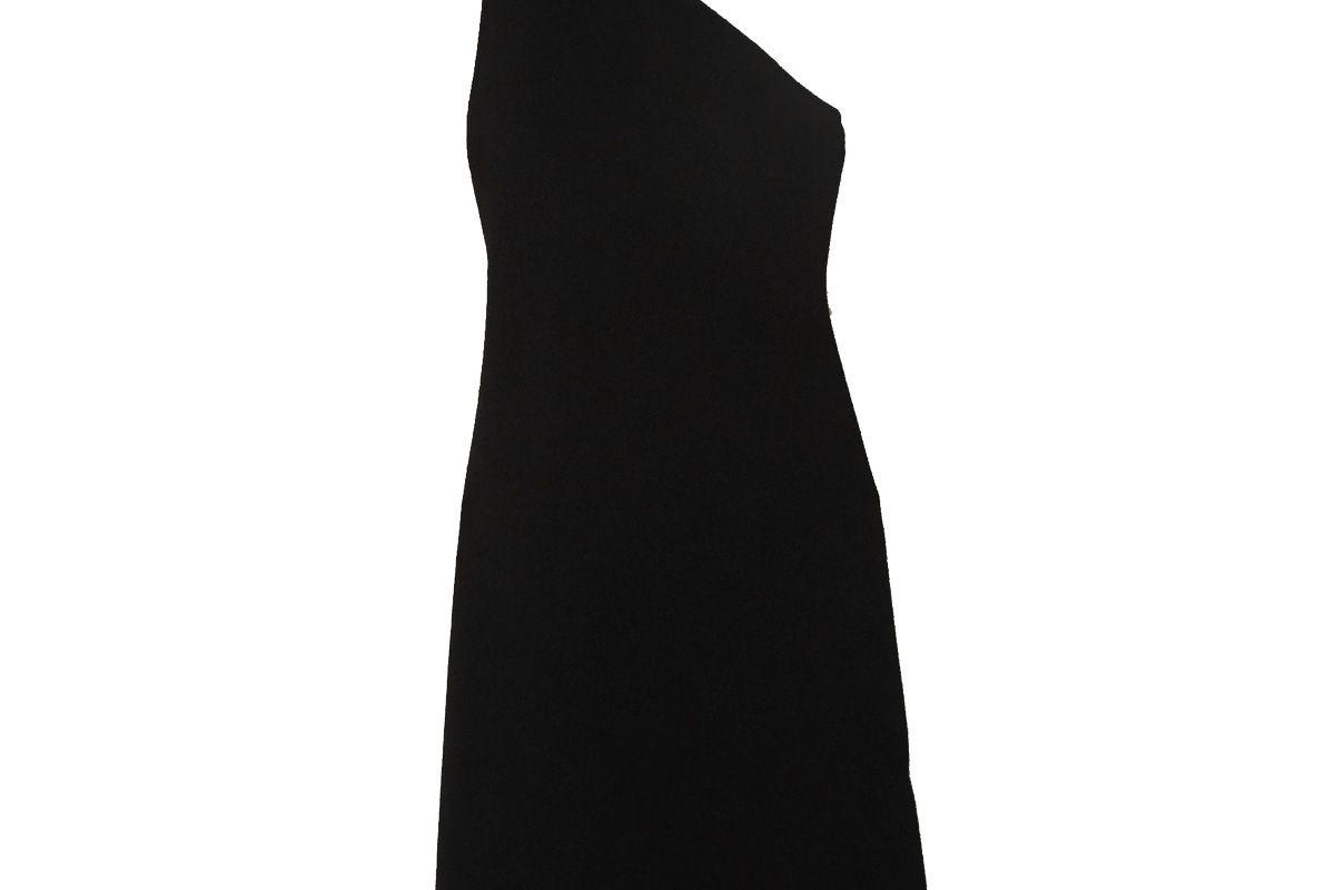 bottega veneta one shoulder stretch knit midi dress