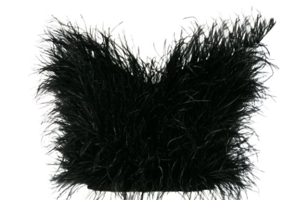 attico strapless feather top