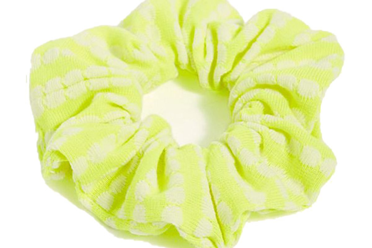 free people neon workout scrunchie