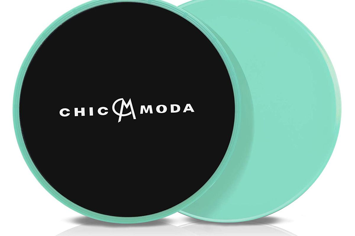 chic moda gliding discs core sliders dual slided disks fitness equipment for abdominal home exercises to strengthen core glutes and abs used on carpets or hard floors with carry bag