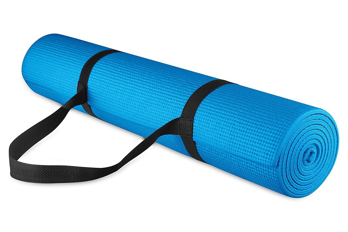 balancefrom go yoga all purpose high density non slip exercise yoga mat with carrying strap