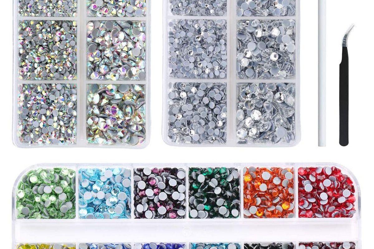 nibiru 6000pcs hotfix rhinestone flat back gemstone crystal set