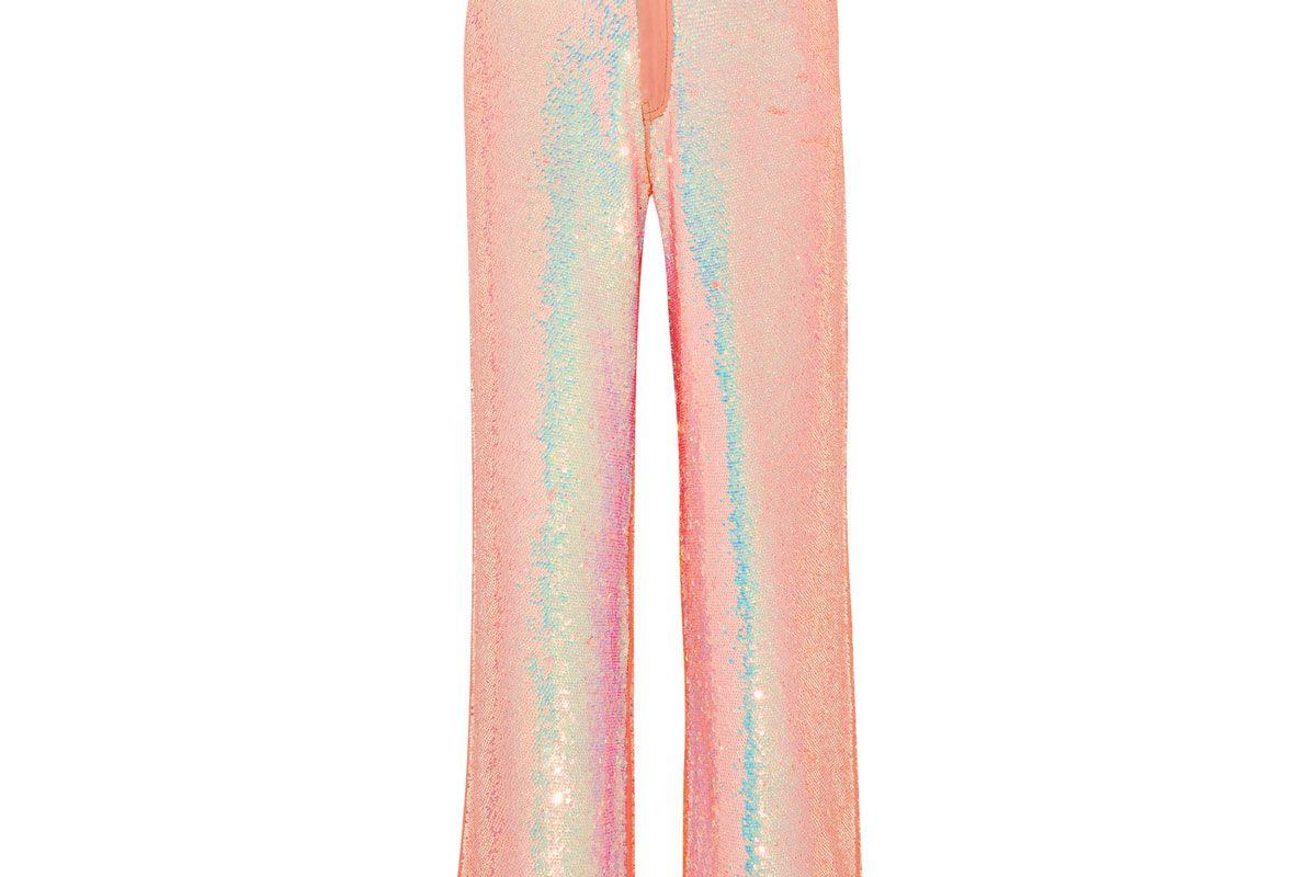 Sequined Mid-Rise Boyfriend Jeans