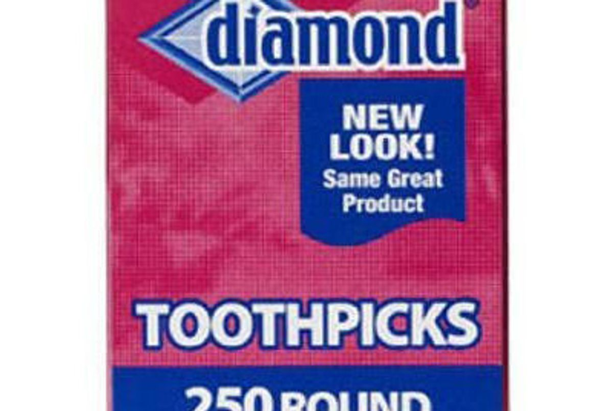 diamond round toothpicks pack of 250